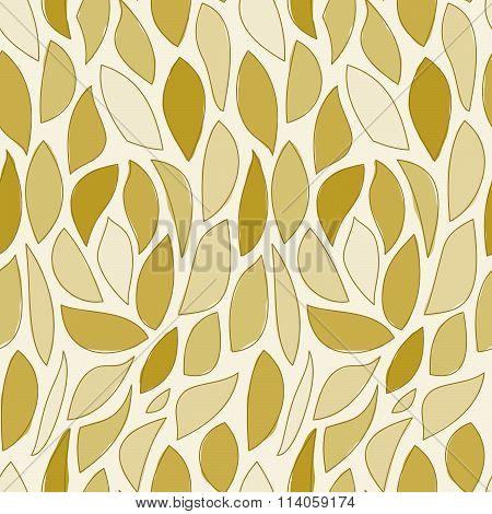Repeating Brown Leaf Pattern