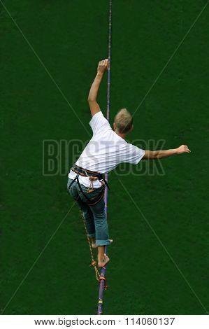 Man Walking On The Highline