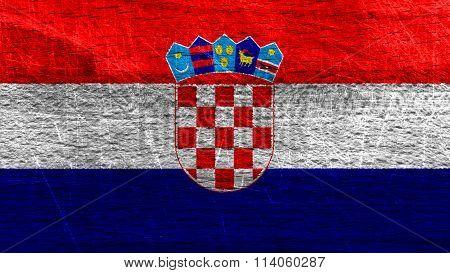Flag of Croatia, Croatian flag painted on wood
