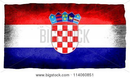 Flag of Croatia, Croatian flag painted on paper texture