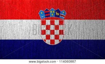 Flag of Croatia, Croatian flag painted on metal