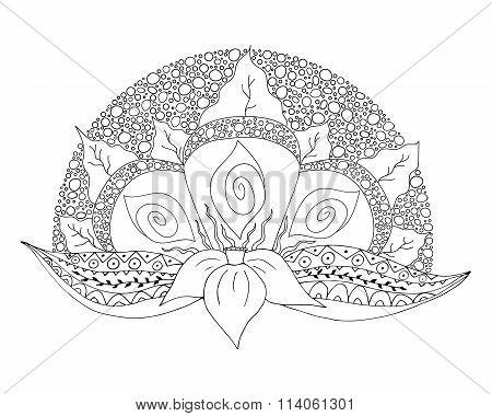 Narcissus Doodle Element