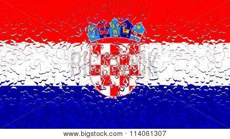 Flag of Croatia, Croatian flag with water drops