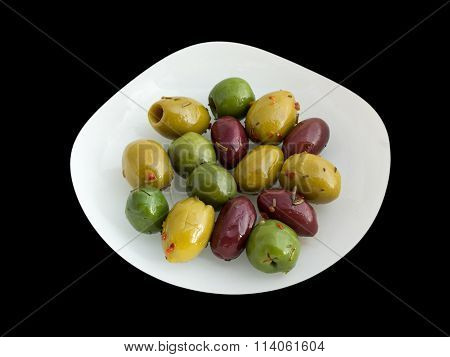 Bowl of mixed olives