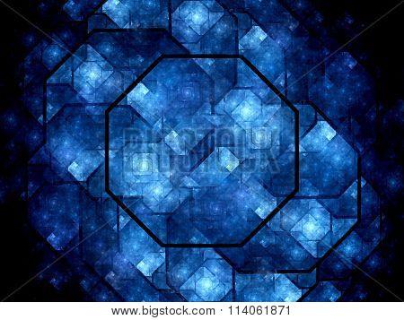 Octagon Shaped Nanocrystal Grid