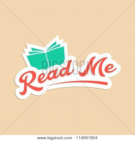 read me with green book sticker