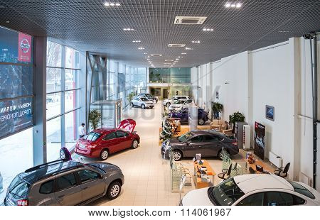Inside In The Office Of Official Dealer Nissan