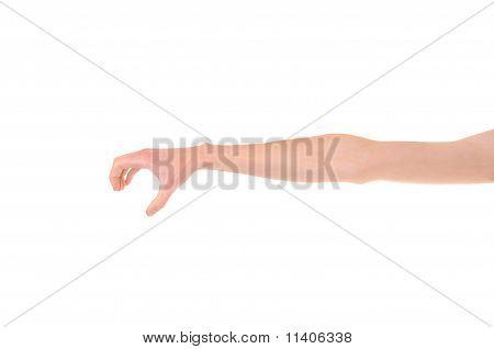 Hand zu erreichen und zu greifen