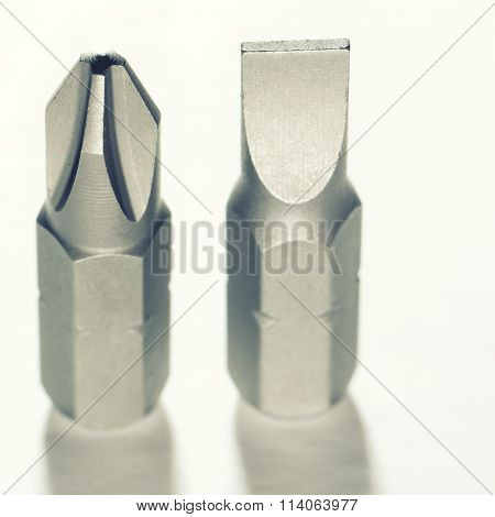 Screwdriver Bits Isolated On White