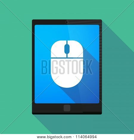 Long Shadow Tablet Pc Icon With A Toy Crank