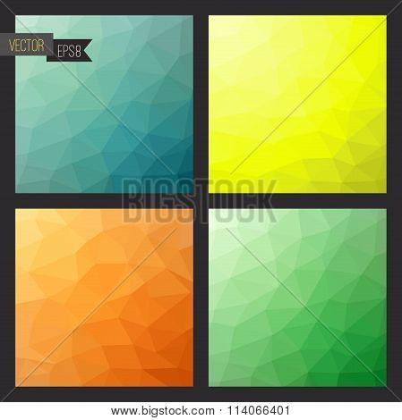 Pattern of geometric shapes collection.