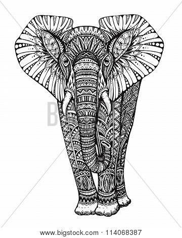 Stylized Fantasy Patterned Elephant