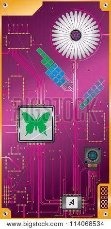 Digital Flower model A pink