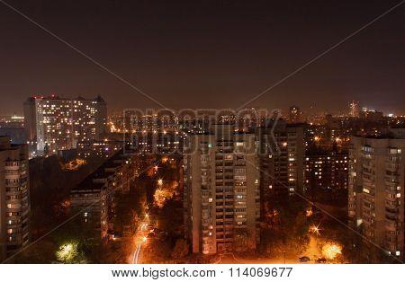 Sight Of Kiev At Night