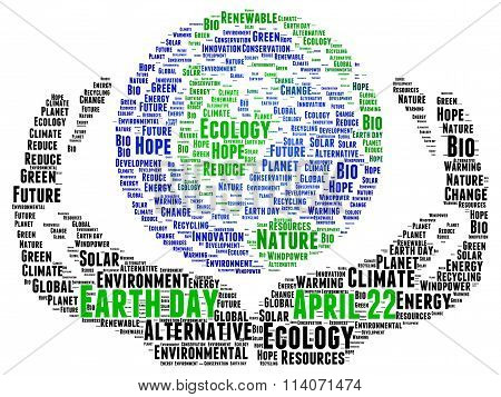 Earth Day concept illustration word cloud