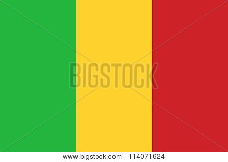 Mali Flag Illustration Of African Country