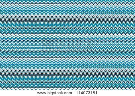 Blue Chevrons Seamless Pattern Background Retro Vintage Design