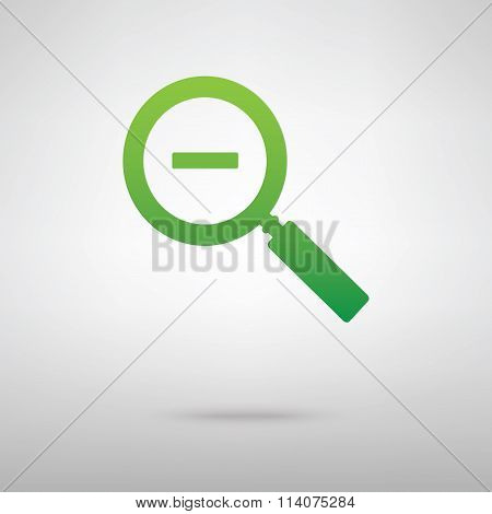 Zoom sign. Green icon