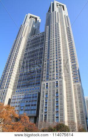 Tokyo Metropolitan Government Office in Shinjuku, Japan