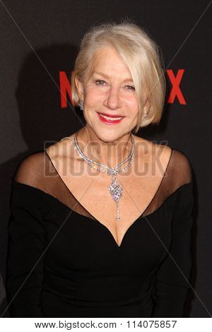 BEVERLY HILLS, CA - JAN. 10: Helen Mirren arrives at the Weinstein Company and Netflix 2016 Golden Globes After Party on Sunday, January 10, 2016 at the Beverly Hilton Hotel in Beverly Hills, CA.