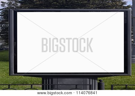 Empty Billboard on the background of trees