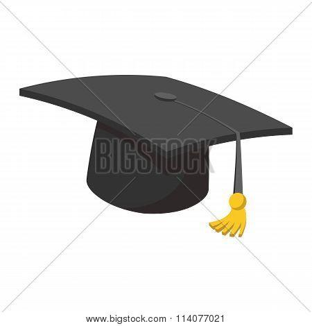 Hat teacher cartoon icon