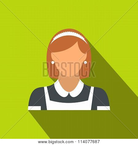 Cleaning household service maid flat icon