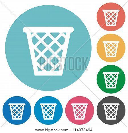 Flat Trash Icons