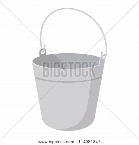 Bucket cartoon icon