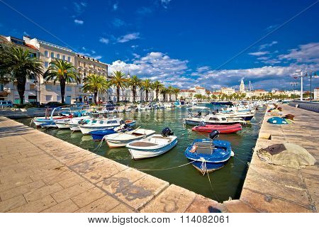 City Of Split Harbor And Old Architecture