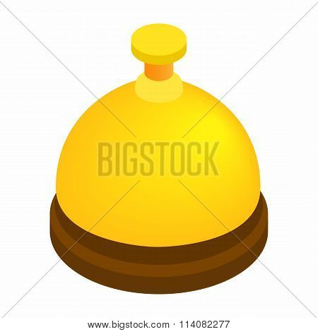 Reception bell isometric 3d icon