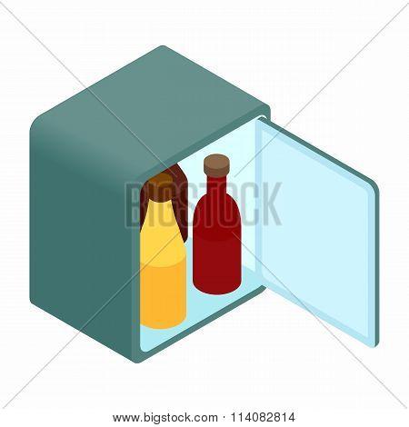 Mini fridge isometric 3d icon