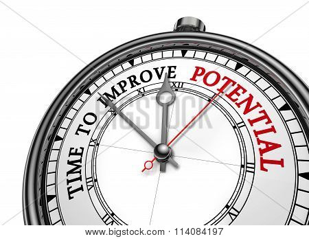 Time To Improve Potential Motivation Message On Concept Clock