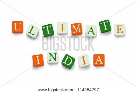 Ultimate India with colorful blocks