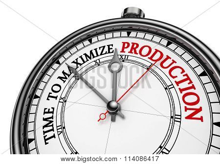 Time To Maximize Production Concept Clock