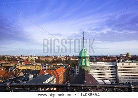 Copenhagen City view. Denmark, Scandinavia