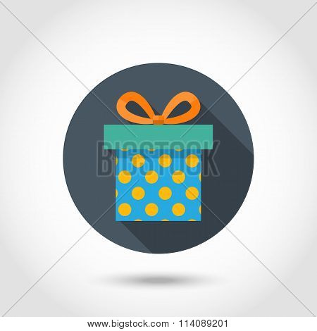 Gift box  icon with shadow