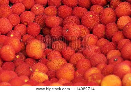 Litchi fruits for sale on a market