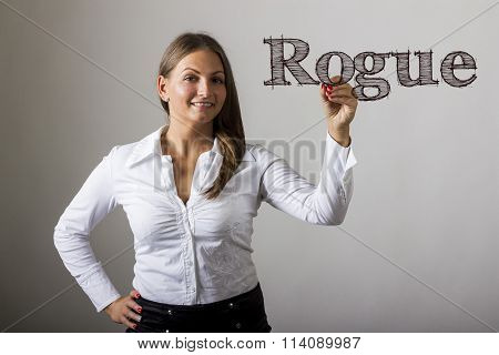 Rogue - Beautiful Girl Writing On Transparent Surface