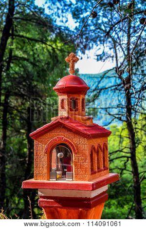 Small wayside shrine on Skopelos island