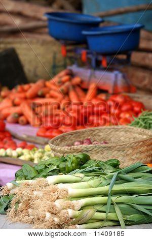 Vegetables on sale