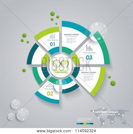Business Pie Chart For Reports, Infographic, Business Plan