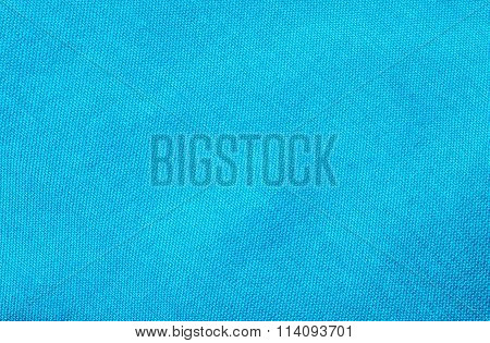 Closeup Blue Fabric At The Necktie Texture Background