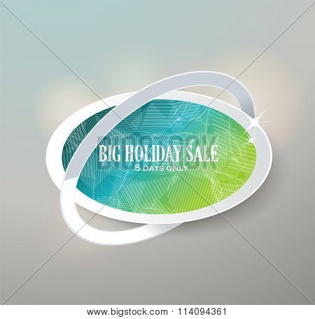 Big Sale Glass Sign. Sale And Discounts. Vector Illustration