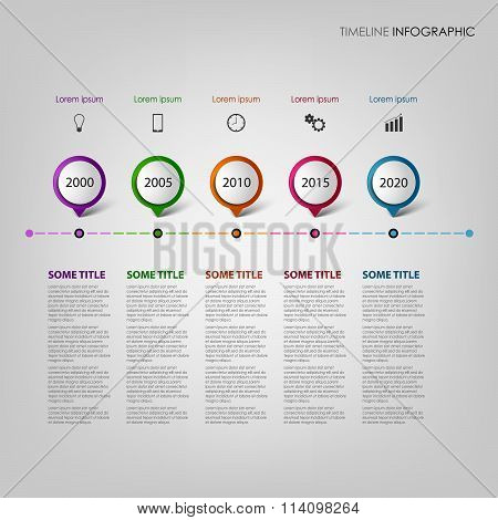 Time Line Info Graphic With Design Pointers Template