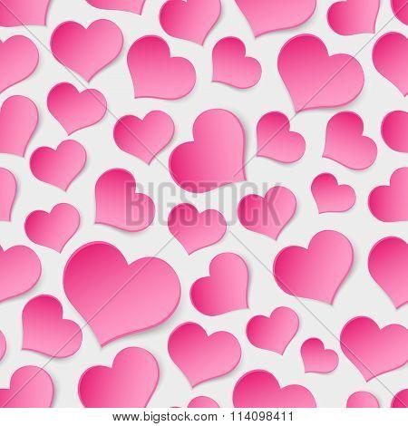 Pink Valentine Hearths Symbol Seamless Pattern Eps10