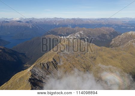 Aerial view Fiordland National Park