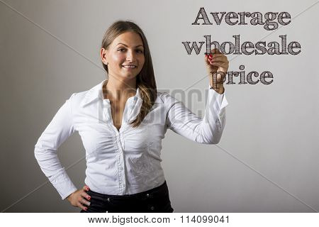 Average Wholesale Price - Beautiful Girl Writing On Transparent Surface