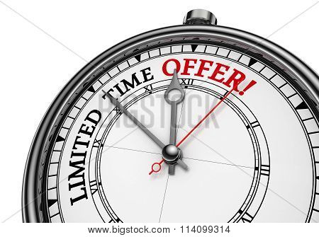 Limited Time Offer Concept Clock