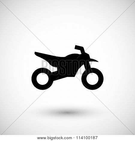Motocross motorcycle icon